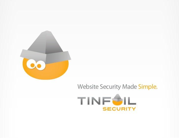 Website Security Made Simple.         SeCURITY