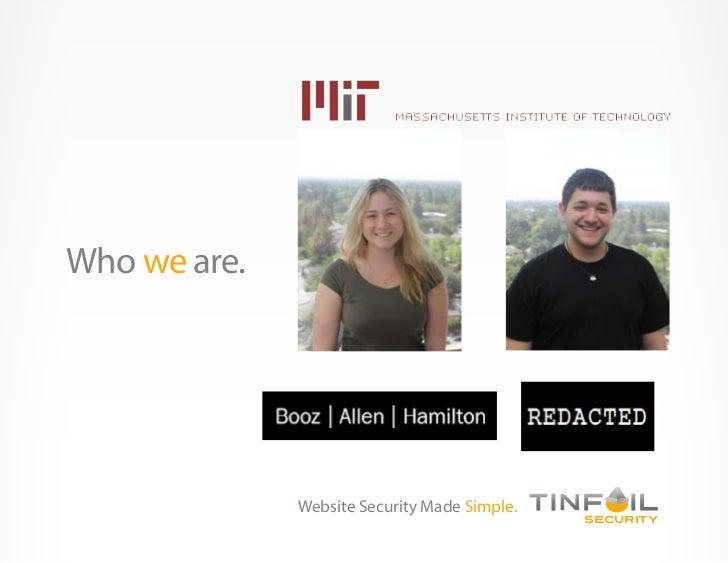 TinfoilSecurity Slide 2