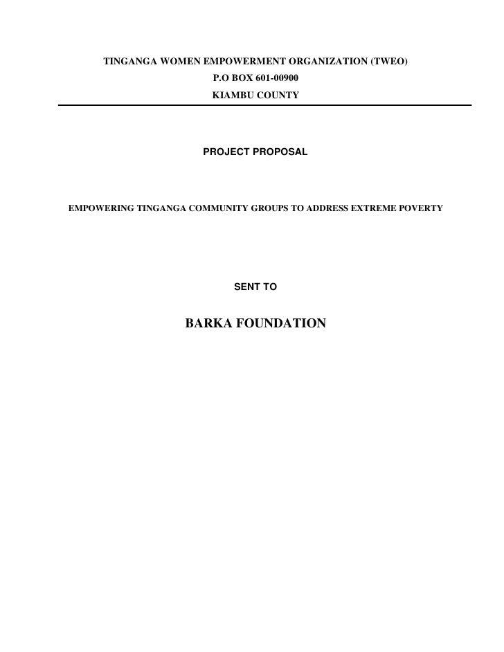 TINGANGA WOMEN EMPOWERMENT ORGANIZATION (TWEO)                        P.O BOX 601-00900                        KIAMBU COUN...