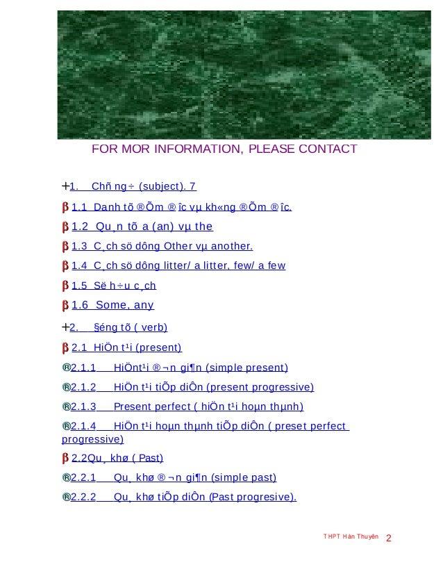Oanh bella FOR MOR INFORMATION, PLEASE CONTACT ++1. Chñ ng ÷ (subject). 7 ββ 1.1 Danh tõ ®Õm ® îc vµ kh«ng ®Õm ® îc. ββ 1....