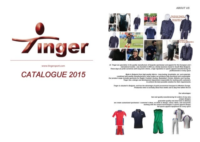 Tinger - Catalogue 2015 / Тингер - Каталог 2015