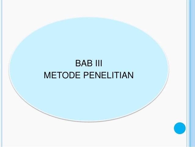 BAB IIIMETODE PENELITIAN