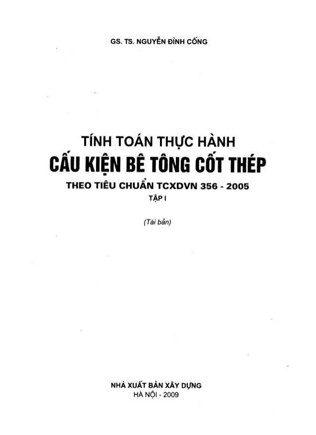Tính toán Thực hành Cấu kiện Bê tông cốt thép - Tập 1 - Nguyễn Đình Cống