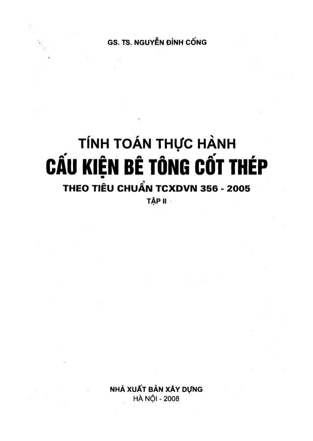 Tính toán Thực hành Cấu kiện Bê tông cốt thép - Tập 2 - Nguyễn Đình Cống