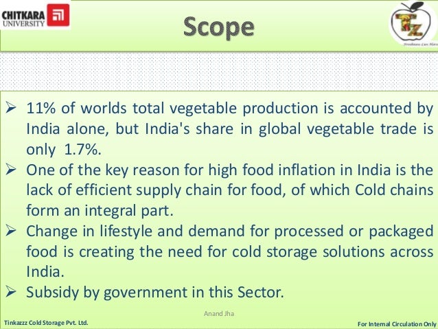 assignment viability of cold storage in Submitted from: pujan gondalia (am0512) emerging technologies assignment viability of cold storage in india submitted to: mr scbawa 21 march 2013.