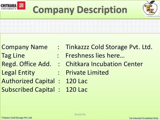 cold storage facility business plan