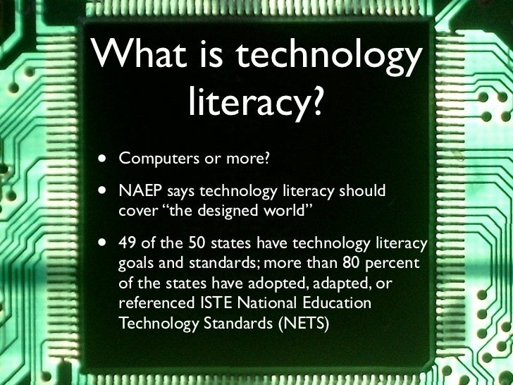 Tinkering towards technology literacy Slide 3