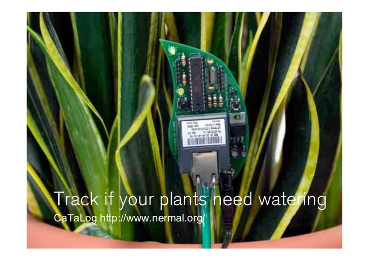 Track if your plants need watering CaTaLog http://www.nermal.org/