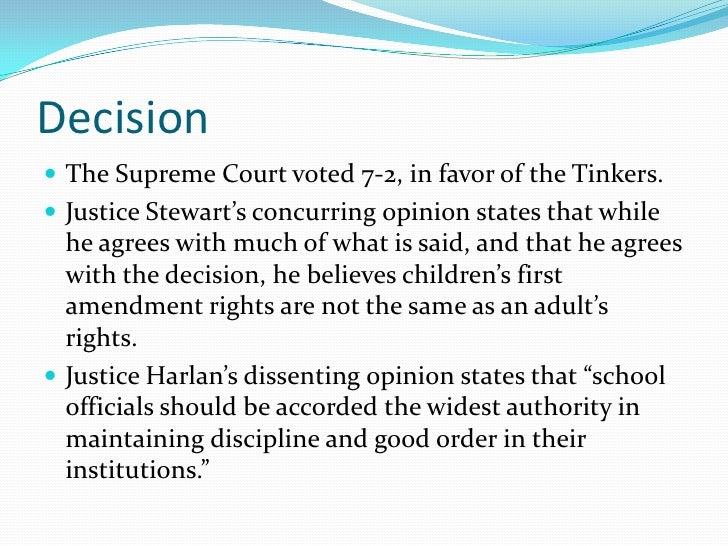 a comparison of tinker versus des moines Tinker v des moines: decision the us supreme court ruled in favor of tinker in this case in tinker v des moines, 393, us, 503 (1969), the us supreme court ruled 7-2 against the.