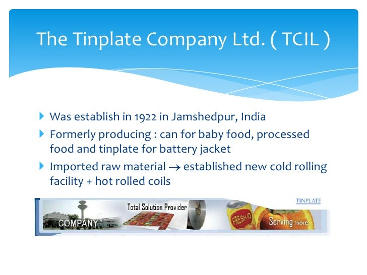 TINPLATE COMPANY OF INDIA LIMITED