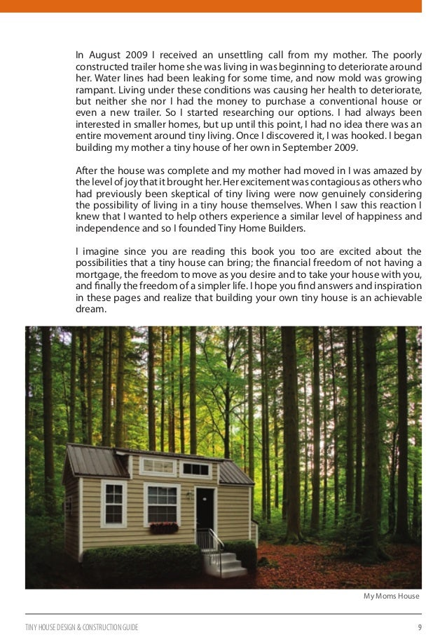 Tiny house design and construction guide sample for Home building guide