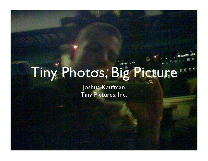Tiny Photos, Big Picture          Joshua Kaufman         Tiny Pictures, Inc.