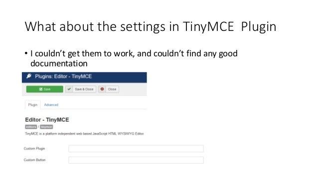 TinyMCE for Joomla
