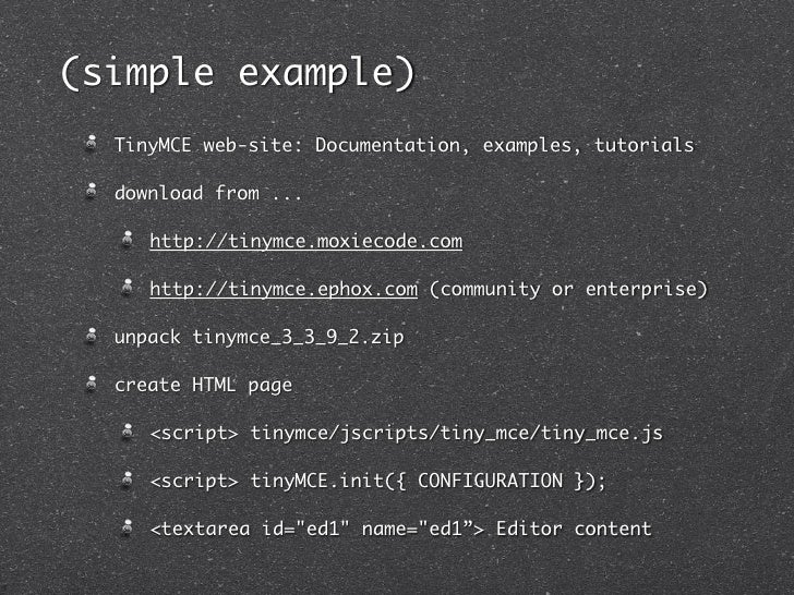 TinyMCE: WYSIWYG editor 2010-12-08