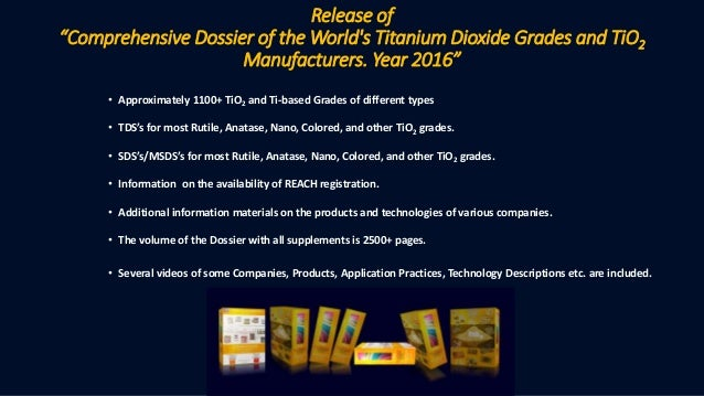 """Release of """"Comprehensive Dossier of the World's Titanium"""