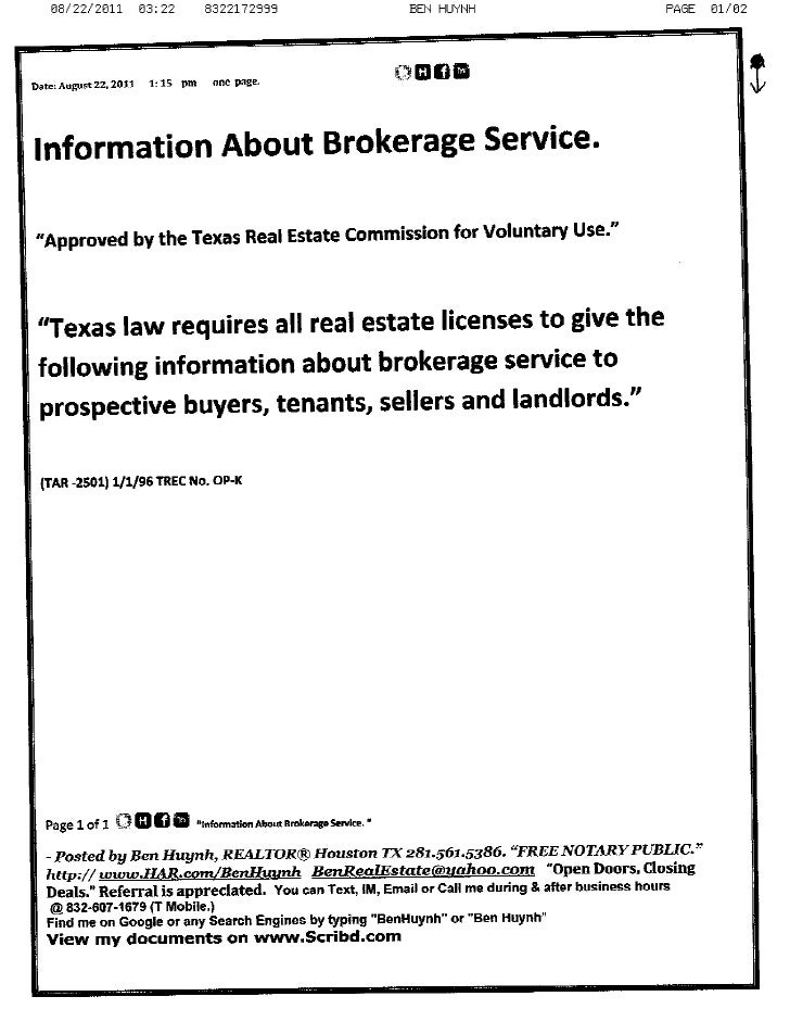information about brokerage service