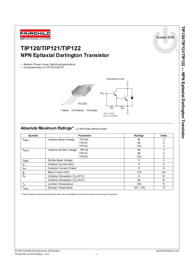 Tip121_174277. Pdf datasheet download -- ic-on-line.