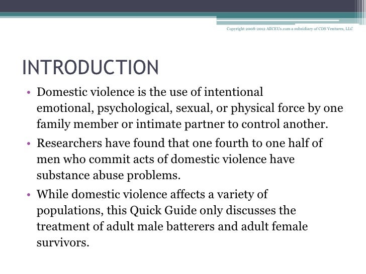domestic violence in society essay