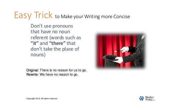 how to be more concise in writing