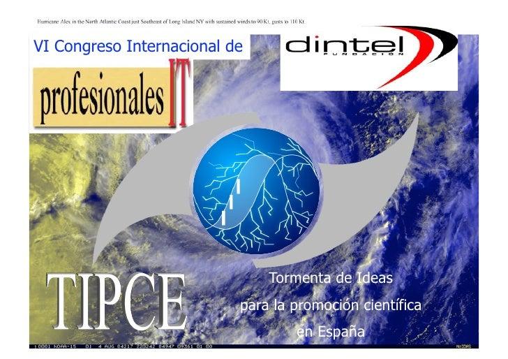 VI Congreso Internacional de                               Tormenta de Ideas                           para la promoción c...