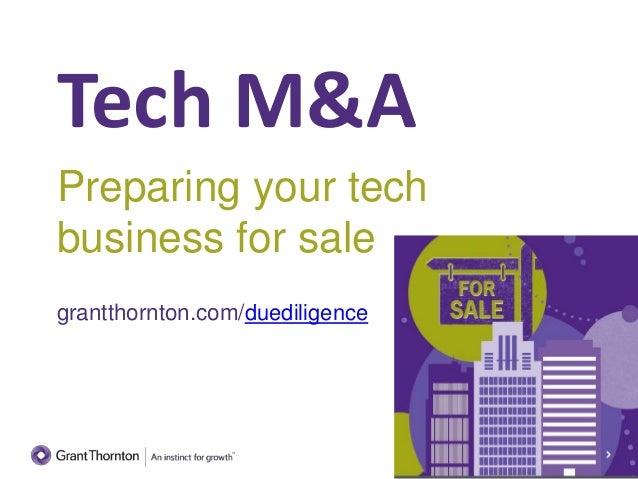 Tech M&A: Preparing Your Tech Business for Sale