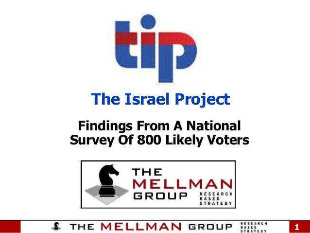 The Israel Project Findings From A National Survey Of 800 Likely Voters  1