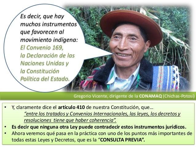 Es decir, que hay muchos instrumentos que favorecen al movimiento indígena: El Convenio 169, la Declaración de las Nacione...