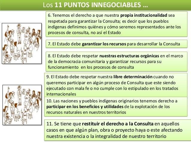 Los 11 PUNTOS INNEGOCIABLES … 6. Tenemos el derecho a que nuestra propia institucionalidad sea respetada para garantizar l...