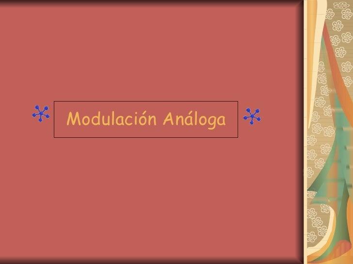 Modulación Análoga