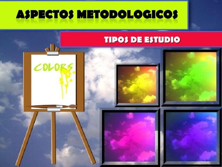 ASPECTOS METODOLOGICOS<br />TIPOS DE ESTUDIO<br />