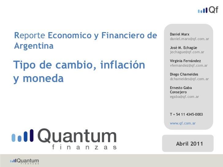 Reporte Economico y Financiero de   Daniel Marx                                    daniel.marx@qf.com.arArgentina         ...