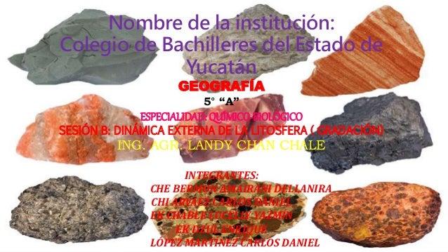 Tipo De Rocas En Yucatán Y México