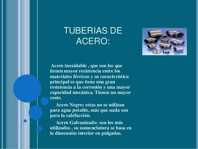 Tipo de tuber a hidr ulica y di metros recomendados en - Tuberias para agua potable ...