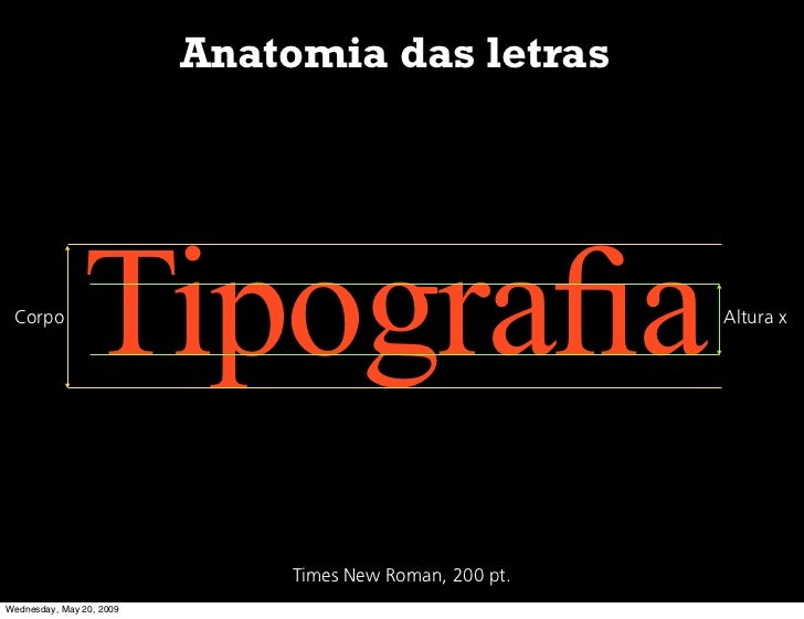 Anatomia das letras      Corpo                Tipografia                                 Altura x                          ...