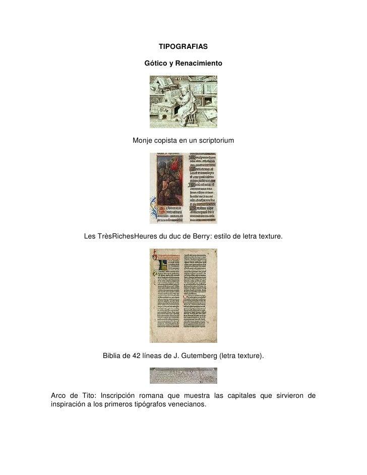 TIPOGRAFIAS                           Gótico y Renacimiento                        Monje copista en un scriptorium        ...