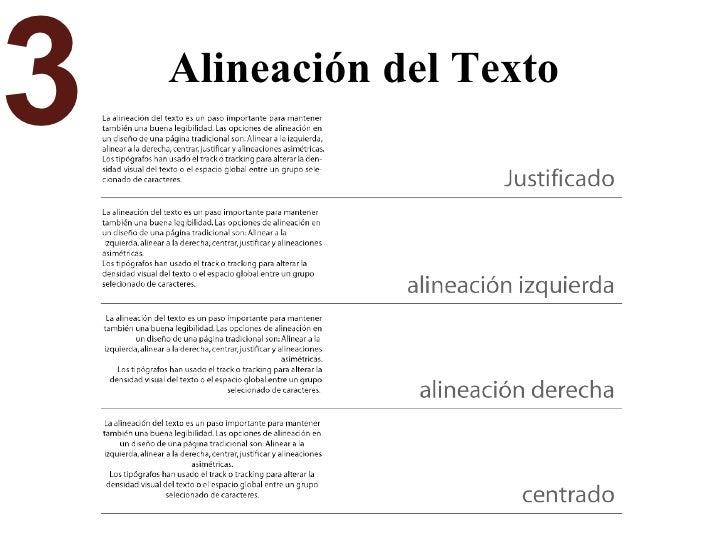 Alineación del Texto 3