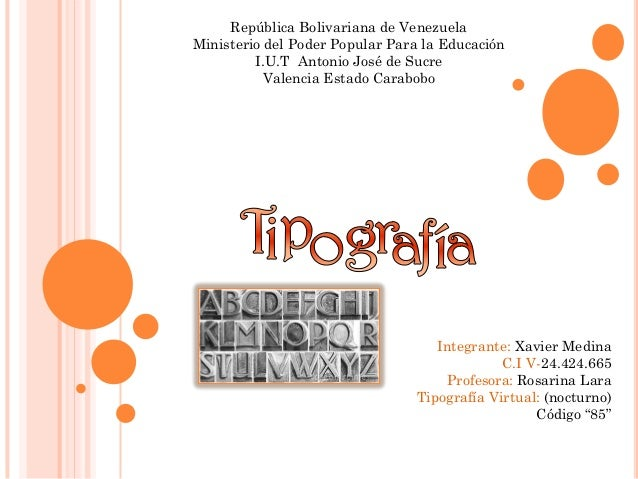 República Bolivariana de VenezuelaMinisterio del Poder Popular Para la Educación         I.U.T Antonio José de Sucre      ...