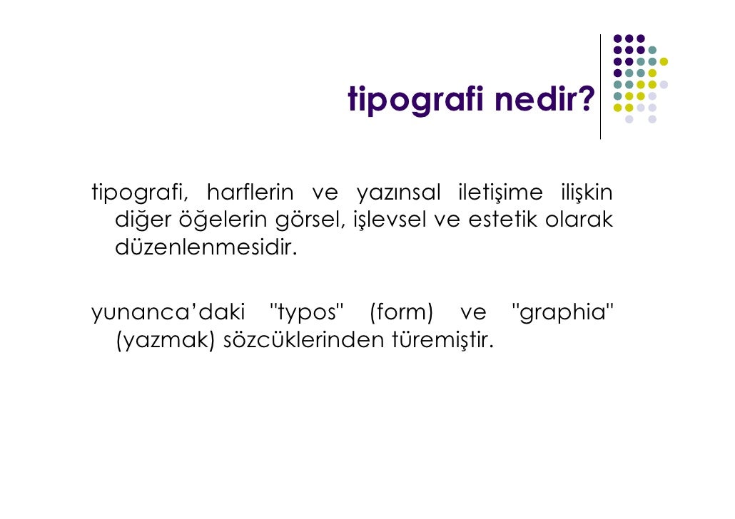 Emine Sarsılmaz - Tipografi  Slide 3
