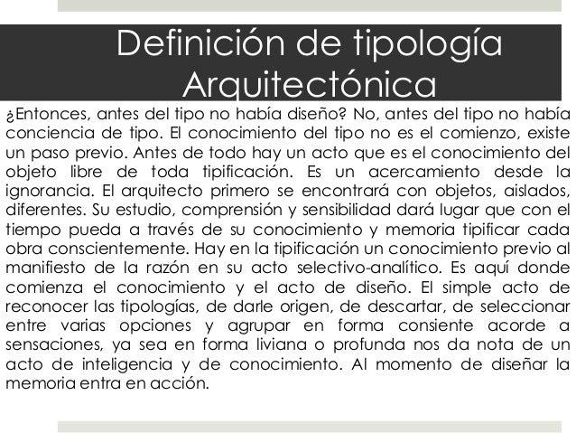 Tipologia en arquitectura for Obra arquitectonica definicion