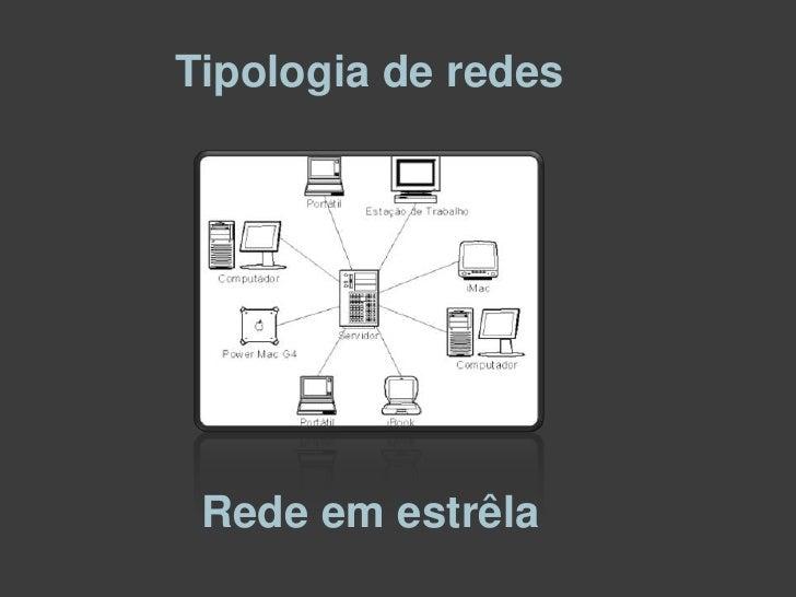 Tipologia de redes<br />Rede em estrêla<br />