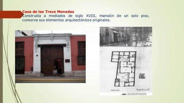 Tipologia de viviendas coloniales en costa trujillo y lima - Casa de la moneda empleo ...