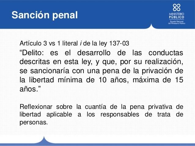 Tipo penal trata de personas for Porte y trafico de estupefacientes codigo penal