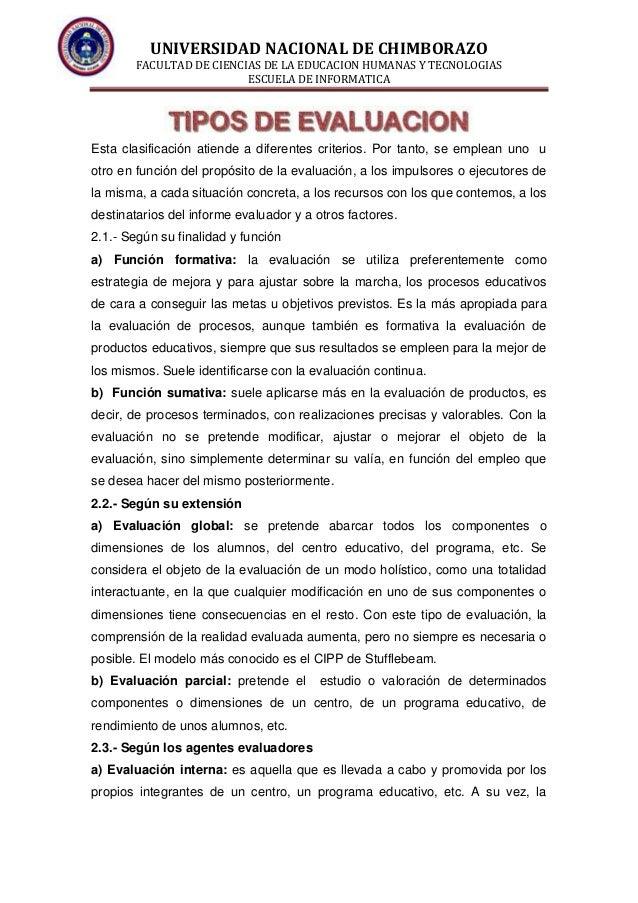 UNIVERSIDAD NACIONAL DE CHIMBORAZO FACULTAD DE CIENCIAS DE LA EDUCACION HUMANAS Y TECNOLOGIAS ESCUELA DE INFORMATICA Esta ...