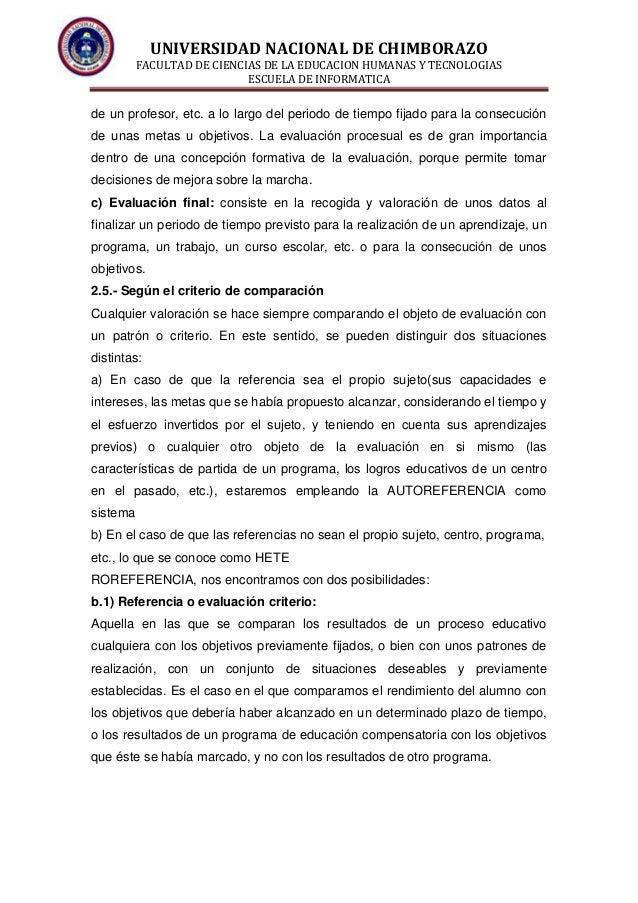 UNIVERSIDAD NACIONAL DE CHIMBORAZO FACULTAD DE CIENCIAS DE LA EDUCACION HUMANAS Y TECNOLOGIAS ESCUELA DE INFORMATICA de un...