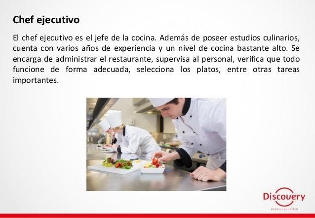 Tipos de chef existen m s de uno for Definicion de gastronomia