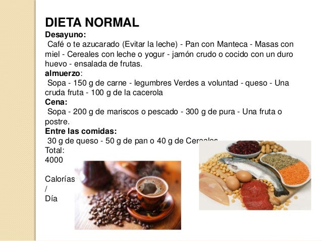 Tipos de dietas de hospital