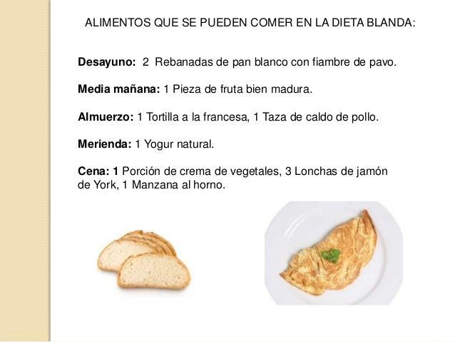 Tipos de dietas de hospital - Alimentos de una dieta blanda ...