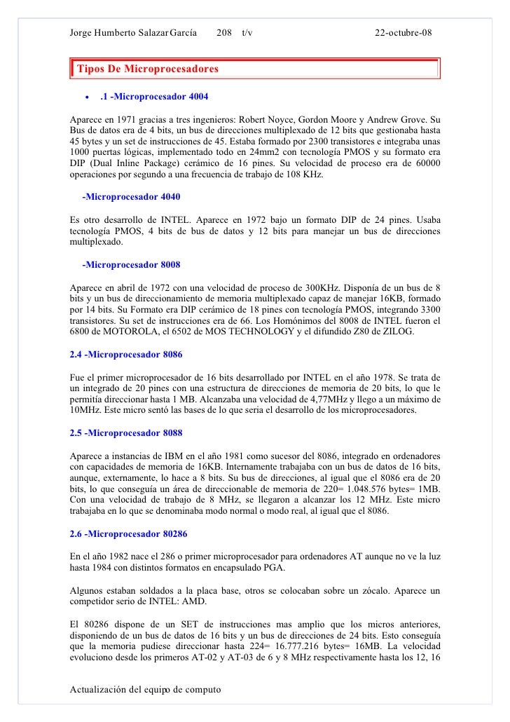 Jorge Humberto Salazar García        208 t/v                                  22-octubre-08    Tipos De Microprocesadores ...