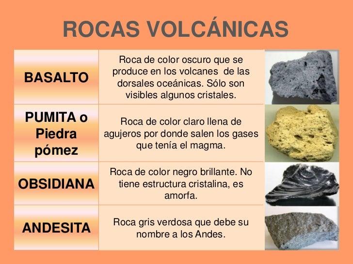Resultado de imagen de resumen rocas volcánicas para niños