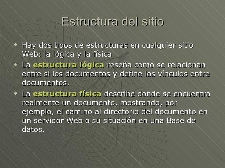 Tipos De Sitios Arquitectura
